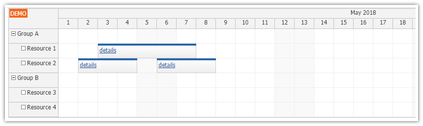 angular scheduler rendering components in events