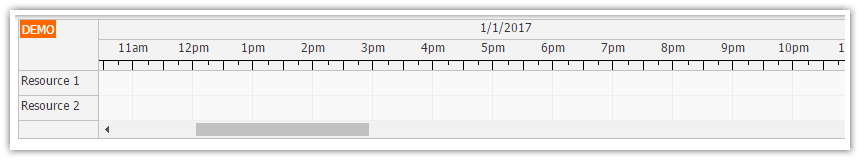 javascript scheduler time header customization
