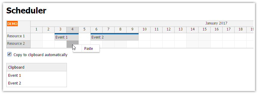 angular2 scheduler copy and paste