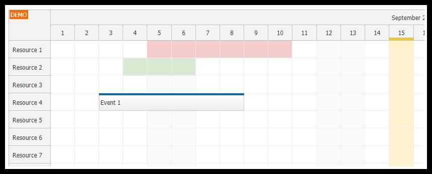 Angular Scheduler: Highlighting Holidays | DayPilot Code
