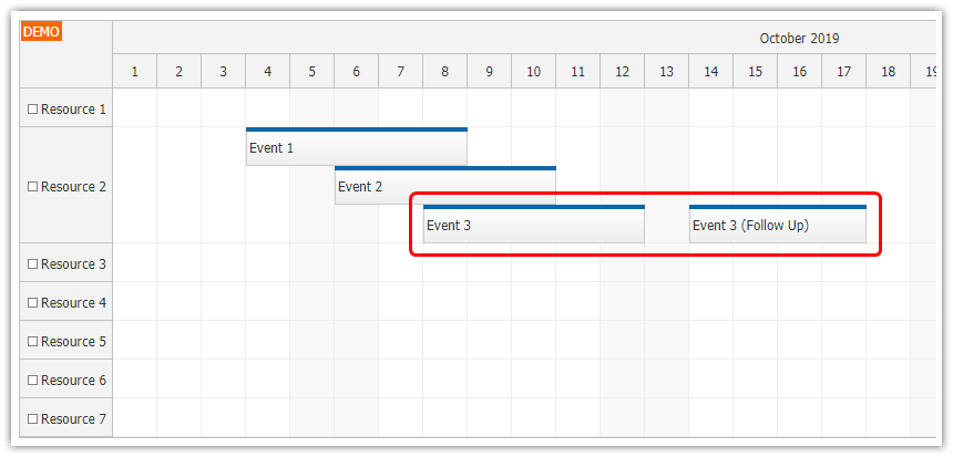 JavaScript Scheduler: Event Placement Strategies