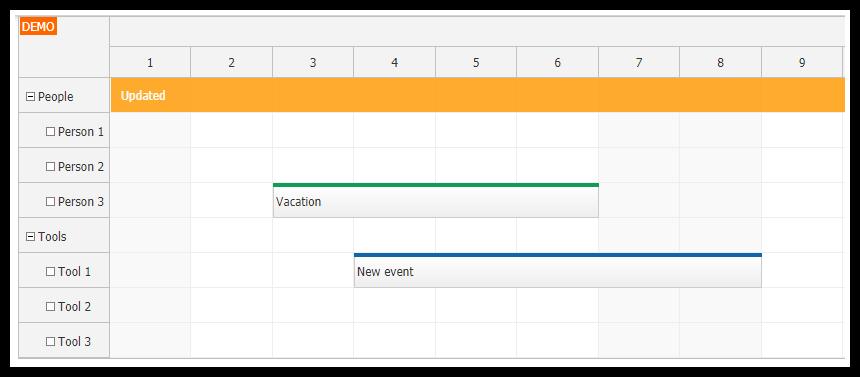 Angular Scheduler Tutorial (TypeScript + PHP/MySQL