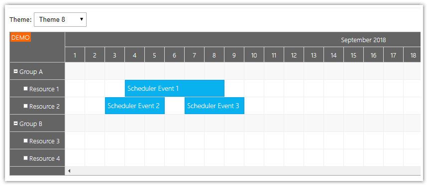 Angular Scheduler: CSS Themes