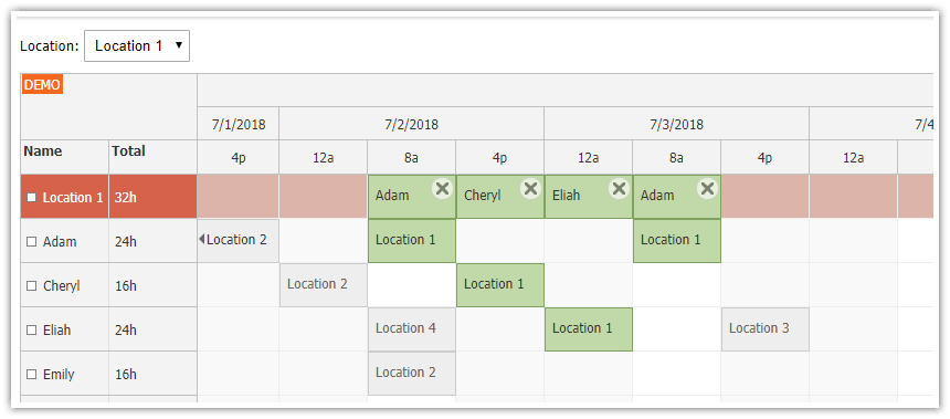 PHP Shift Planning System (JavaScript/HTML5 Frontend, MySQL