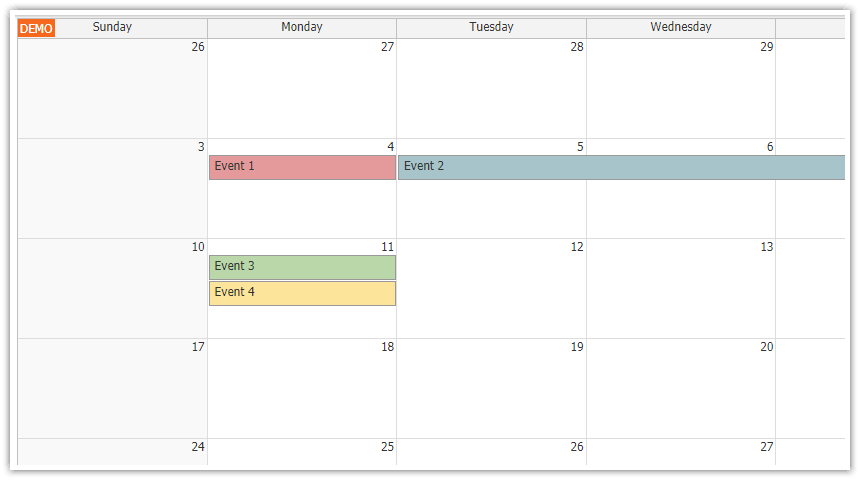 Qt Weekly Calendar : Angular monthly calendar quick start project daypilot code