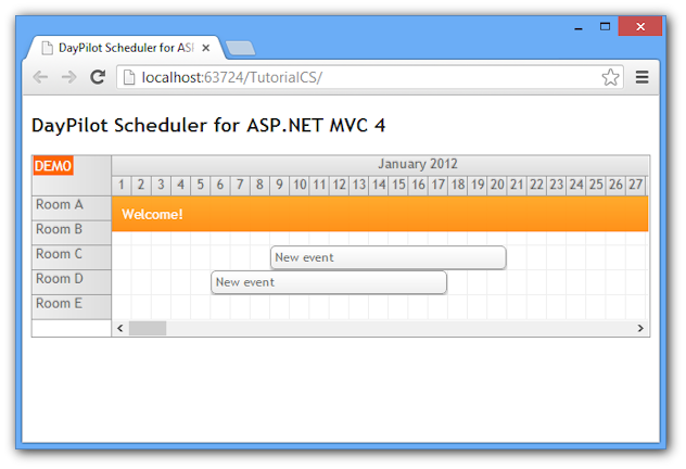 scheduler for asp net mvc 4 razor