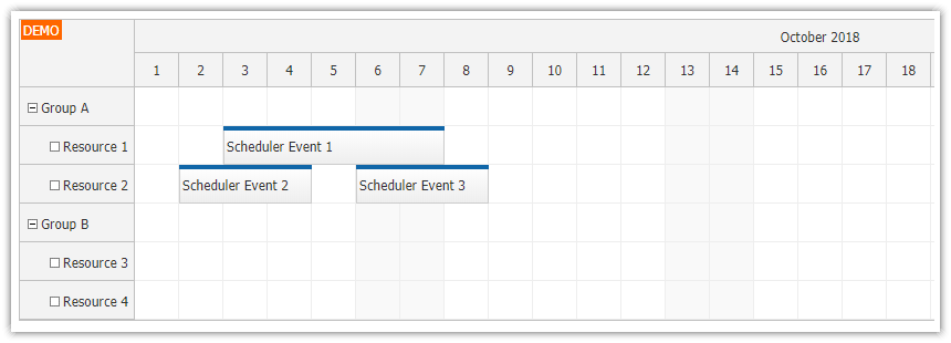 angular 7 scheduler component