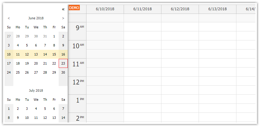 Angular Calendar: Full Screen Layout