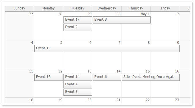 Monthly Calendar Using Javascript : Monthly event calendar for asp mvc and jquery open