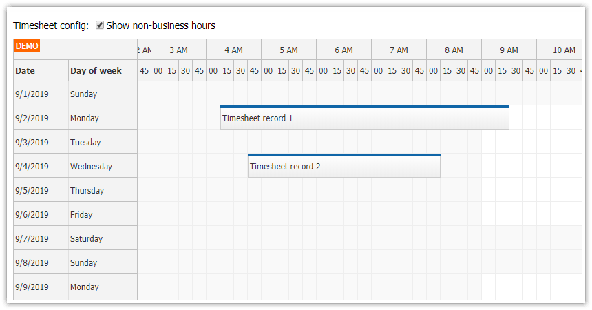angular 8 timesheet quick start project