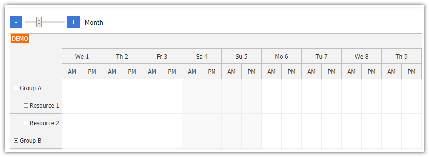 Angular Scheduler: Zoom