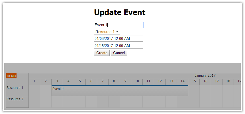 angular2 scheduler event edit modal dialog
