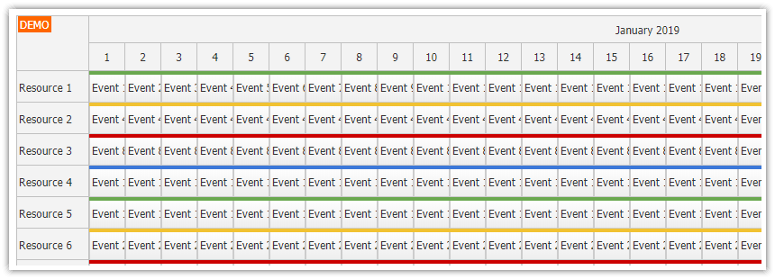 JavaScript Scheduler: Dynamic Event Loading (ASP NET Core