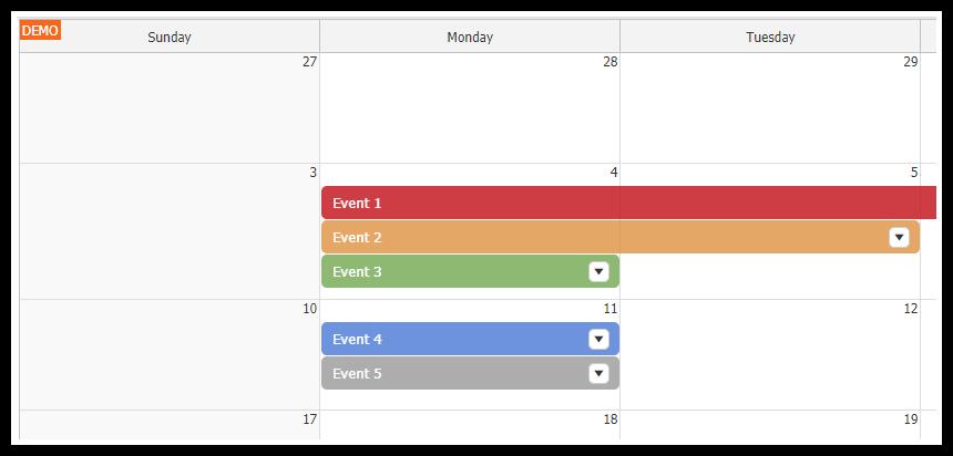 React Big Calendar.React Monthly Calendar Tutorial Daypilot Code