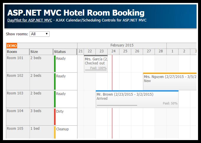 Asp net mvc hotel room booking daypilot code for Asp net menu templates