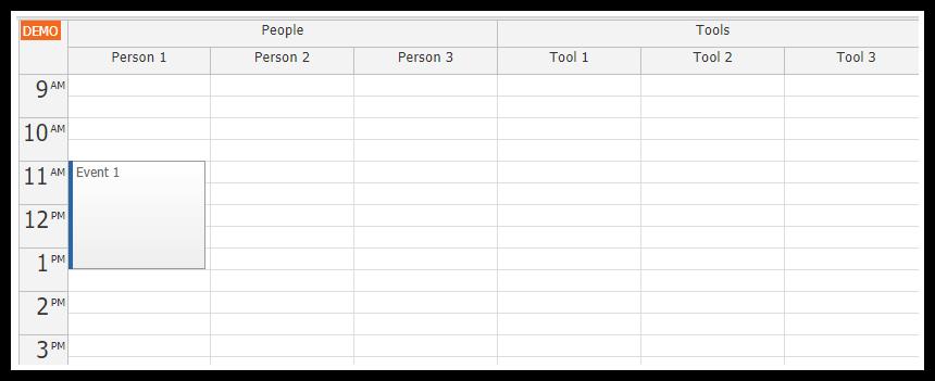JavaScript Resource Calendar Tutorial (PHP/MySQL) | DayPilot