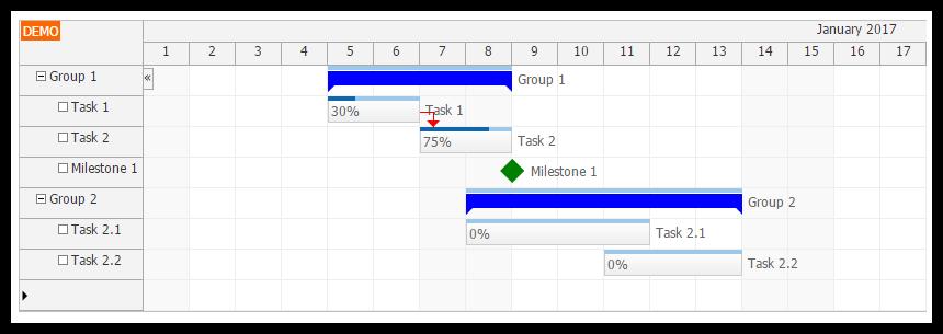 Html5 gantt chart javascriptphp daypilot code angular 2 gantt chart component typescript phpmysql backend ccuart Gallery