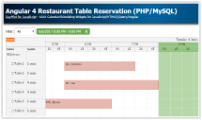 Angular 4 Restaurant Table Reservation (PHP/MySQL)
