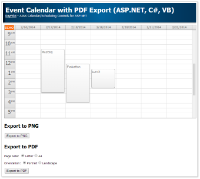 Event Calendar PDF Export (ASP.NET, C#, VB)