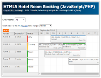 HTML5 Hotel Room Booking (JavaScript/PHP)