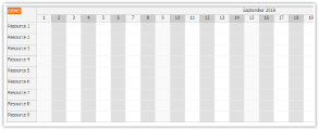 JavaScript Scheduler: Alternate Column Colors