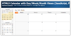 HTML5 Calendar with Day/Week/Month Views (JavaScript, PHP)
