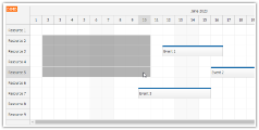 JavaScript Scheduler: Select a Time Range over Multiple Rows