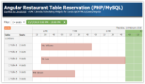 Angular 5 Restaurant Table Reservation (PHP/MySQL)