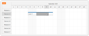 JavaScript Scheduler: Use Shift+Drag to Start Selection over Events