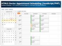 HTML5 Doctor Appointment Scheduling (JavaScript/PHP/MySQL)