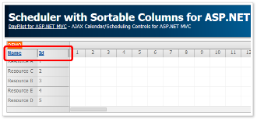 Scheduler with Sortable Columns (ASP.NET MVC 5)