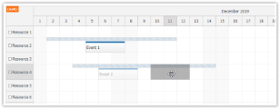 JavaScript Scheduler: Limited Drag and Drop Range
