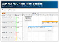 ASP.NET MVC Hotel Room Booking