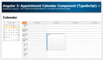 Angular 2+ Appointment Calendar Component (TypeScript) + PHP/MySQL Backend