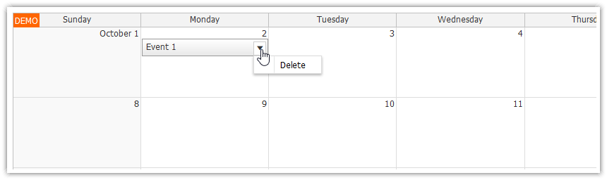 Monthly Calendar Using Javascript : Using javascript html monthly calendar in spring boot