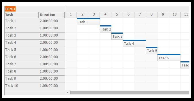 Gantt Chart PDF Export (ASP.NET, C#, VB.NET) | DayPilot Code