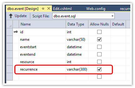 ASP NET MVC 5 Scheduler with Recurring Events | DayPilot Code