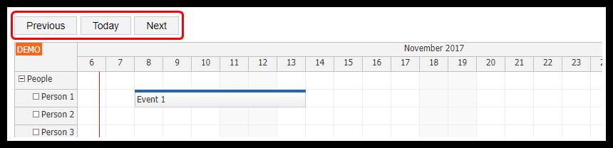 HTML5 Scheduler: Infinite Scrolling | DayPilot Code