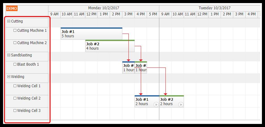 HTML5 Machine/Production Job Scheduling Tutorial (PHP/MySQL