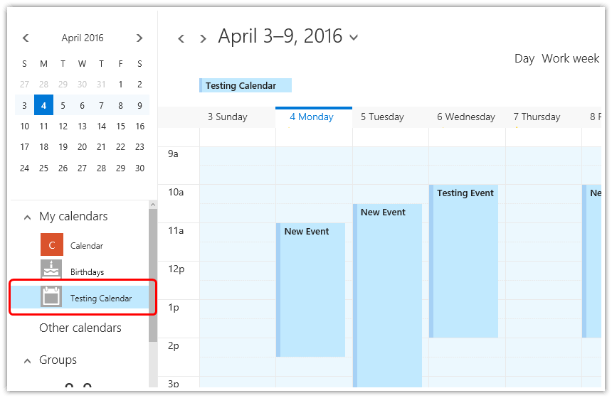 Loading Calendar Appointments from Exchange Server (Office 365