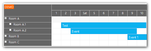 Monthly Calendar Using Javascript : Monthly event calendar for javascript html php daypilot