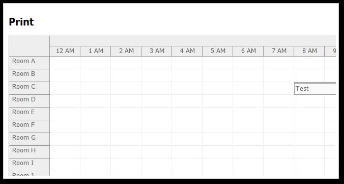 Scheduler Printing (ASP NET, C#, VB NET) | DayPilot Code