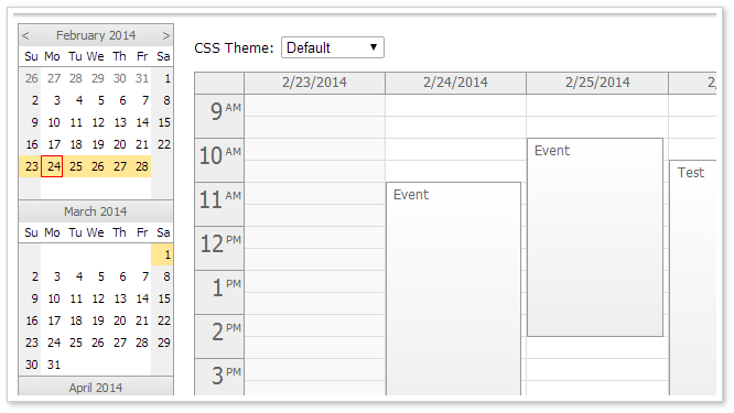 Monthly Calendar Using Javascript : Html javascript event calendar open source daypilot code