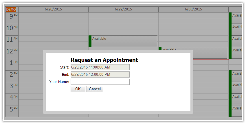Asp Net Doctor Appointment Scheduling C Vb Net Sql